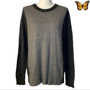 J.Crew Factory Warmspun Colorblock Zip Sweater Size Large